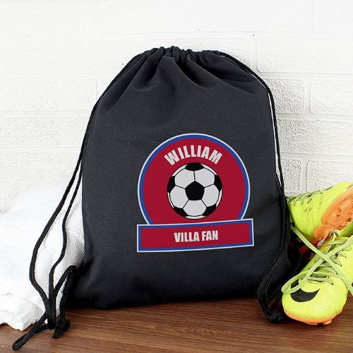 Personalised Claret and Blue Football Fan Kit Bag